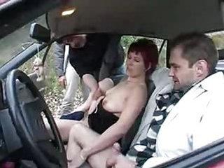 Nasty XXX german couple carsex outdoor