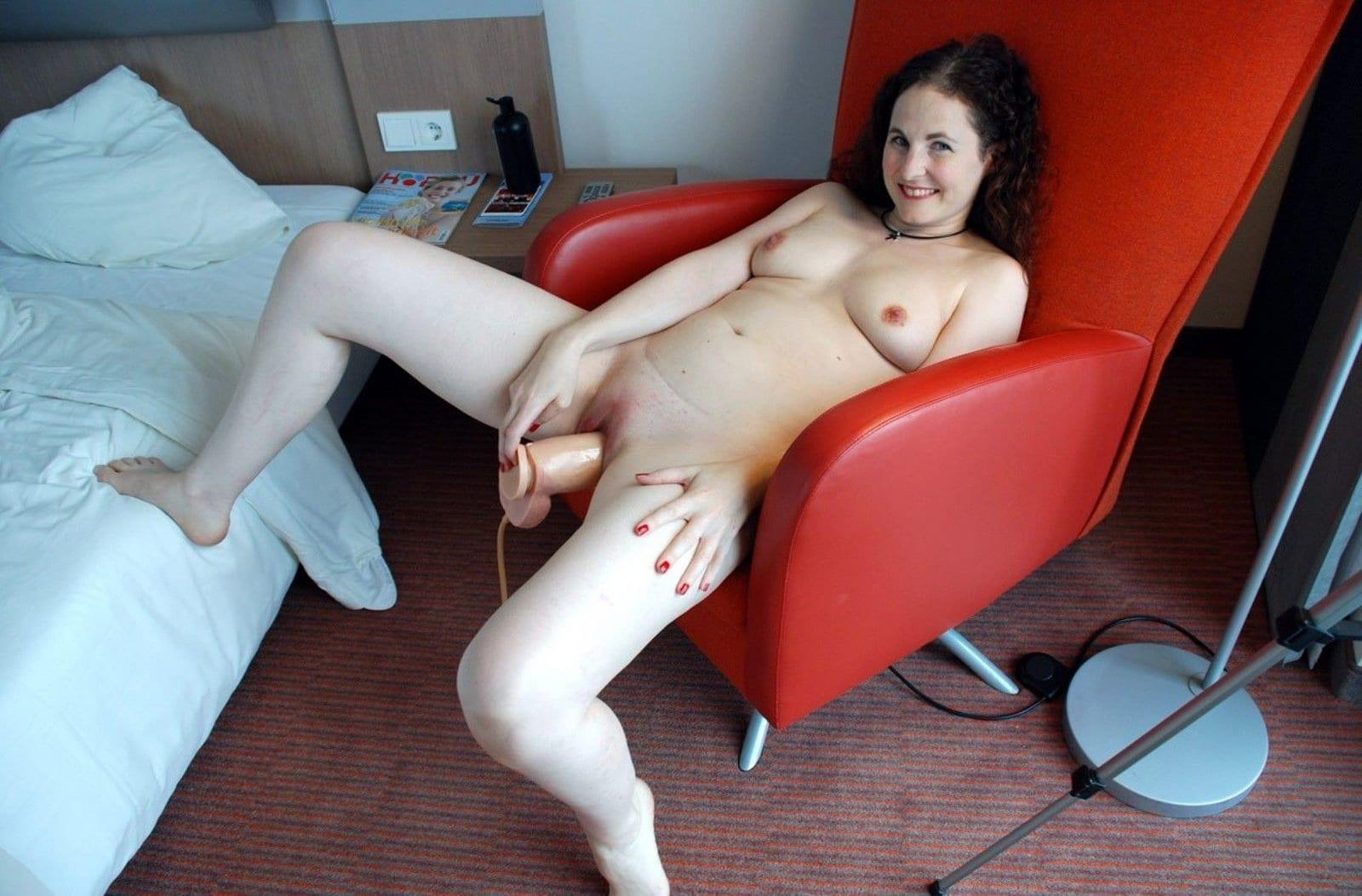 MILF Sabine-Using a Huge Dildo at Hardpeter Nasty XXX