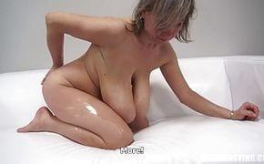 Granny Huge Saggy Tits Craving Cock and Cum