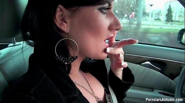 Celine Noiret Blows her man in the car